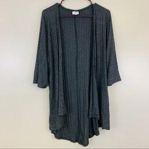 Lularoe Gray Lindsay Kimono Cardigan Sweater Small